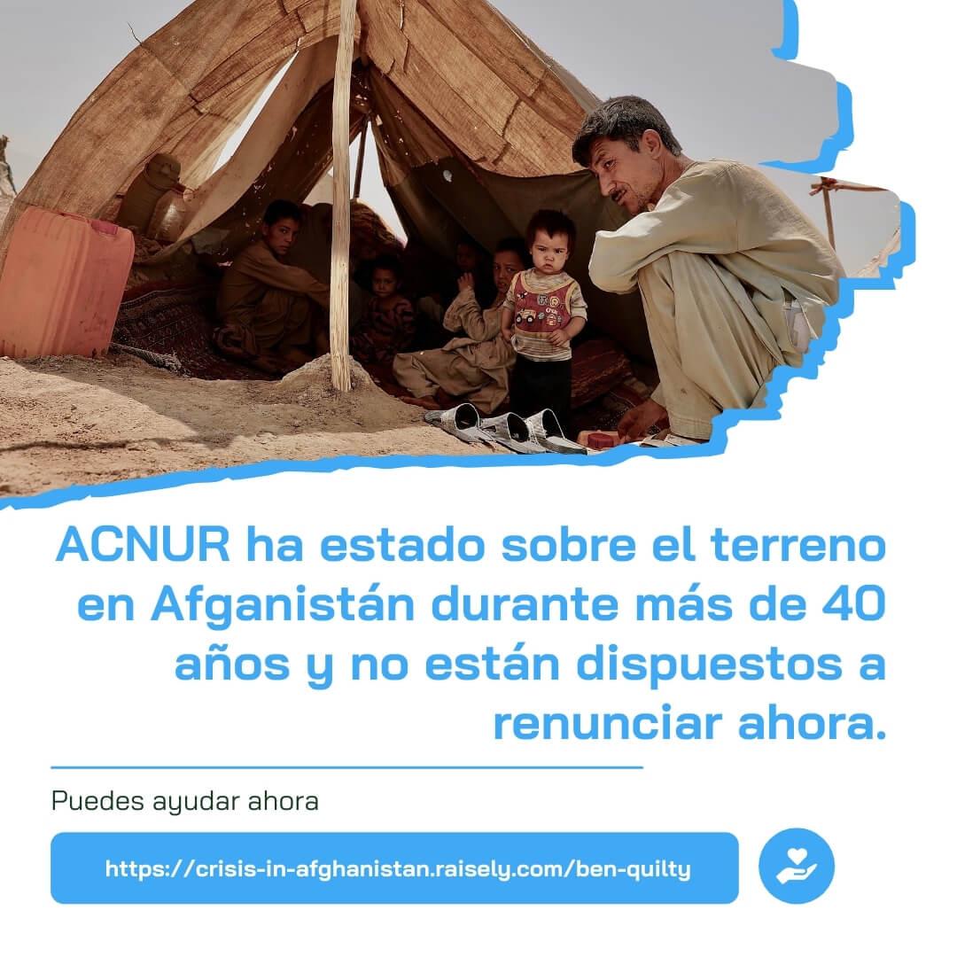 ACNUR y la crisis del agua en Afganistan