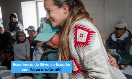 La experiencia de Silvia entregando filtros purificadores de agua en Ecuador